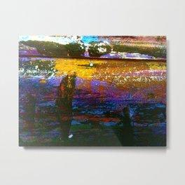 Easel Abstract 1 Metal Print