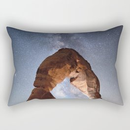 Starry Night Pointer at Milky Way Night sky in Moab Arches National Park  Utah USA  Rectangular Pillow
