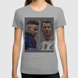 neymar jr and cristiano ronaldo T-shirt