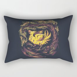 Chocobo with Blossoms Rectangular Pillow