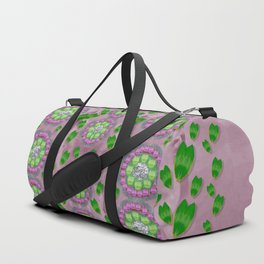ivy and  holm-oak with fantasy meditative orchid flowers Duffle Bag