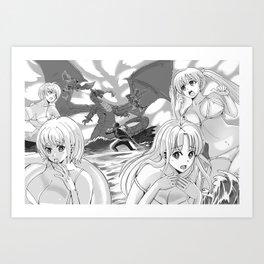 Manga page Art Print