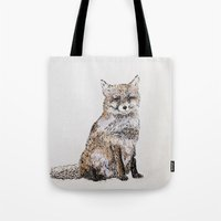 roald dahl Tote Bags featuring Fox by Killerwinter