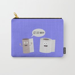 Toilet roll tissue cartoon Carry-All Pouch