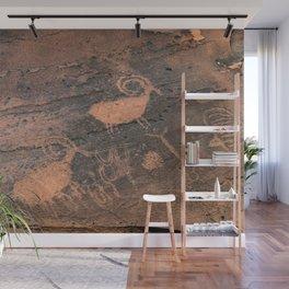 Desert Rock Art - Petroglyphs - II Wall Mural