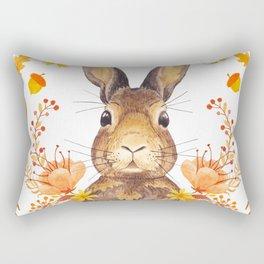 Autumn Rabbit Rectangular Pillow