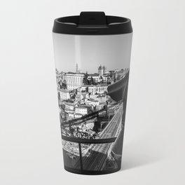 A coin operated scope and the Porto Cityscape, Porto, Portugal Travel Mug