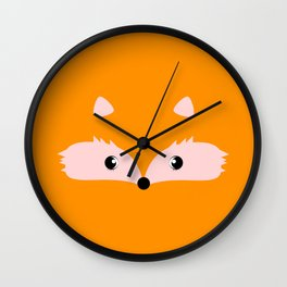 Fox face Wall Clock