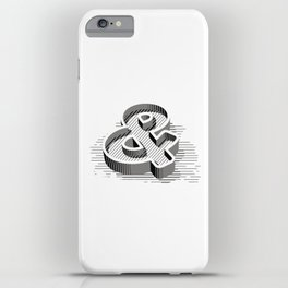 Ampersand 3D iPhone Case