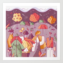 Autumn Lookbook Art Print