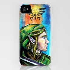 Link from the Legend of Zelda Painting. The Proud Hyrulian Warrior. Slim Case iPhone (4, 4s)