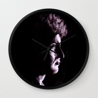 patrick Wall Clocks featuring Patrick by Zombie Rust