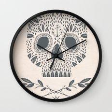 LEAF SKULL Wall Clock