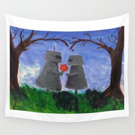 Robot Love Wall Tapestry
