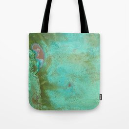 Listening in Green Tote Bag