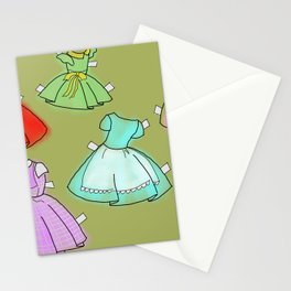 1950's paper doll dresses Stationery Cards