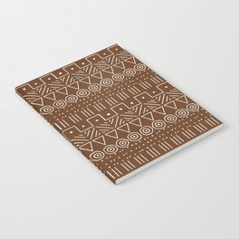 Mudcloth Style 1 in Brown Notebook