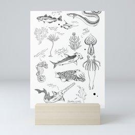 Ocean Sketches Mini Art Print