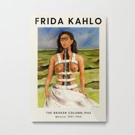Frida Kahlo - The Broken Column, 1944 - Exhibition Poster - Art Print Metal Print
