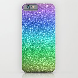 Magic Rainbow Sparkly Glitter iPhone Case