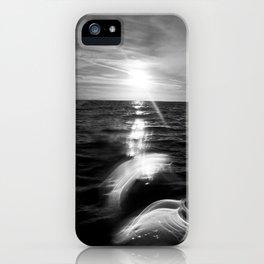 B&W Surfer's Sunset iPhone Case