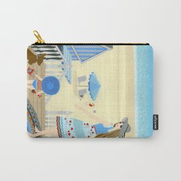 Family vacation at the beach Carry-All Pouch