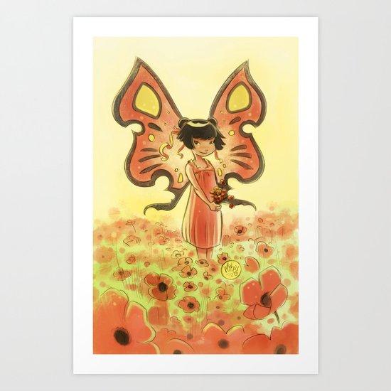 Goblins Drool, Fairies Rule! - Poppy Smock Art Print