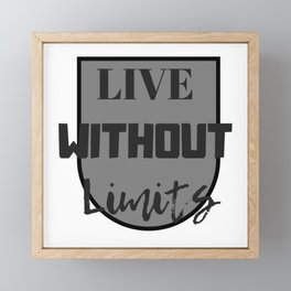 Vive sin límites | Live without limits Framed Mini Art Print