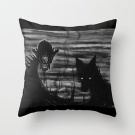 Wide Awake Throw Pillow