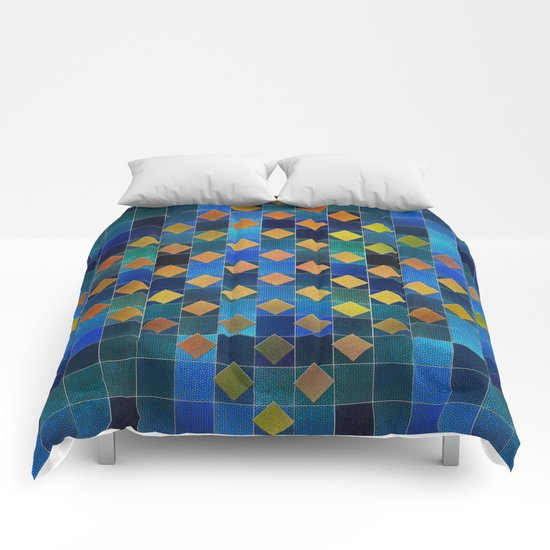 Added Squares Comforters
