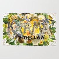 karma Area & Throw Rugs featuring Karma by Jenndalyn