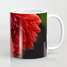 Fresh Rain Drops - Red Dahlia Coffee Mug