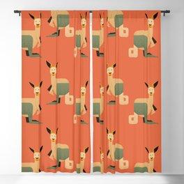 Whimsy Kangaroo Blackout Curtain