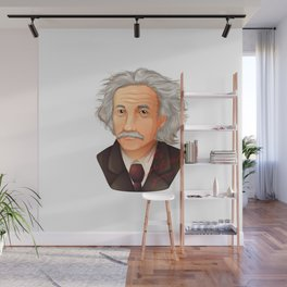 My preferred Genius,  a illustration of the biggest physicist  Albert Einstein. Wall Mural