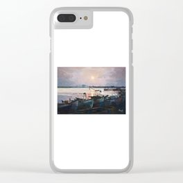 Sea Sunset Clear iPhone Case