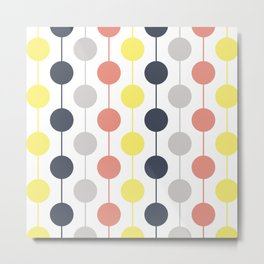 Colorful circles and stripes Metal Print