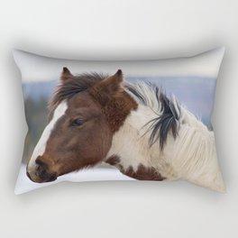 Tri-Colored Horse Rectangular Pillow