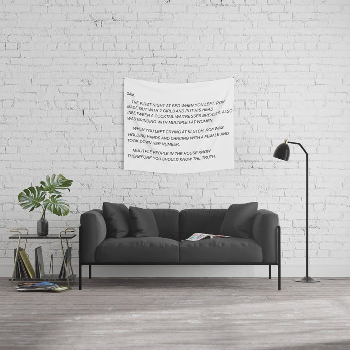 Sammi Sweetheart Letter Wall Tapestry