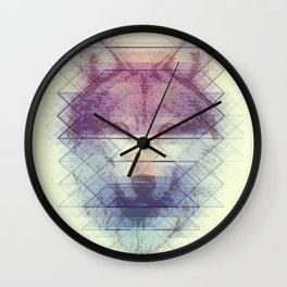 Geo Wolf Wall Clock