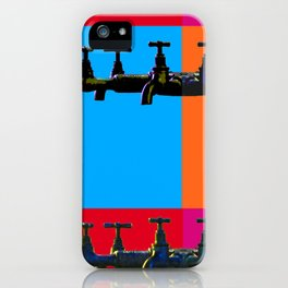 Industrial inspiration for a colorful tap design iPhone Case