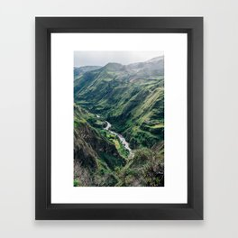 Drop Off (Colombia) Framed Art Print