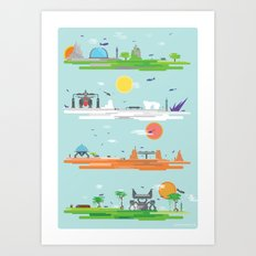 The Four Continents  Art Print
