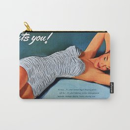 Retro 1940's - 1950's Beach Swimwear Bathing suit Advertisement Vintage Poster  Carry-All Pouch