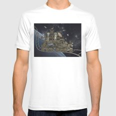 Oriental Steampunk Space Expess Mens Fitted Tee MEDIUM White