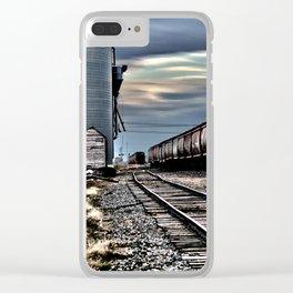 Harwood Grain Elevator Clear iPhone Case