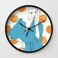 model Wall Clocks featuring Model by Erica Pizzetti