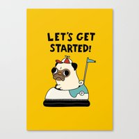 pug Canvas Prints featuring PUG! by Jarvis Glasses