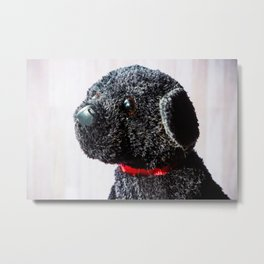 Stuffed Animal Puppy Portrait 2 Metal Print