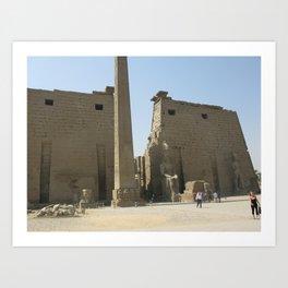 Temple of Luxor, no. 1 Art Print