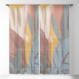 Abstract Art Jungle Sheer Curtain